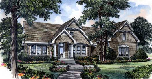 Country Style Home Design Plan: 96-110