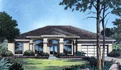 Sunbelt Style Home Design Plan: 96-113