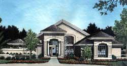 Florida Style Home Design Plan: 96-116