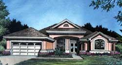 Florida Style Home Design Plan: 96-118
