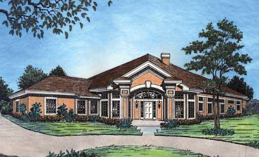Florida Style House Plans Plan: 96-125