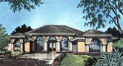 Mediterranean Style House Plans Plan: 96-127