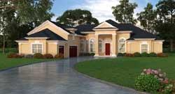Florida Style House Plans Plan: 96-128
