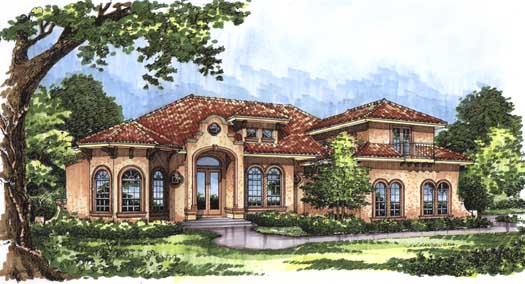 Spanish Style House Plans Plan: 96-135