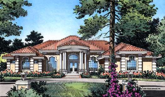 Florida Style Home Design Plan: 96-137