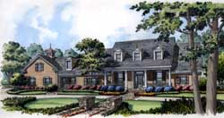 Country Style Floor Plans Plan: 96-139