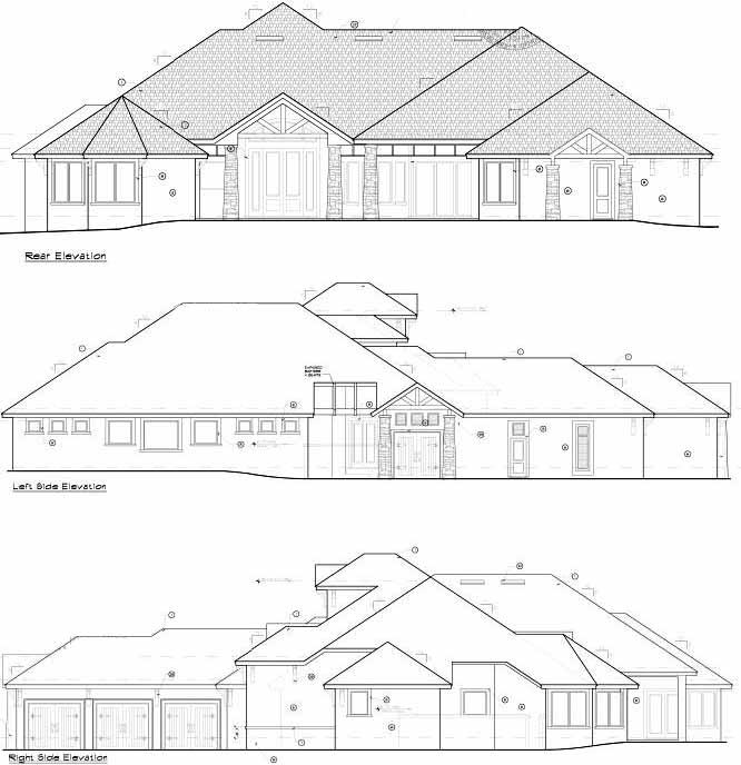 Rear Elevation Plan: 96-142