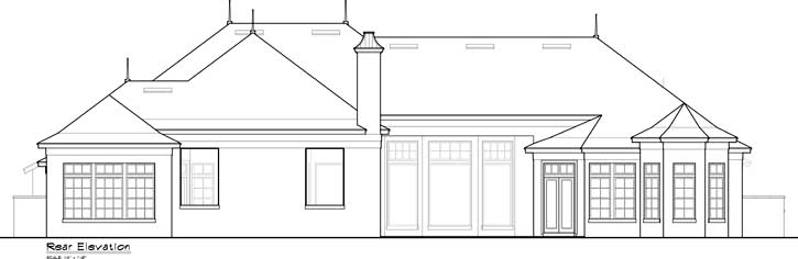 Rear Elevation Plan: 96-144
