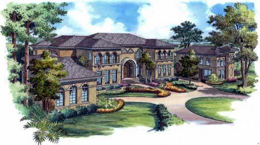 Mediterranean Style House Plans Plan: 96-146
