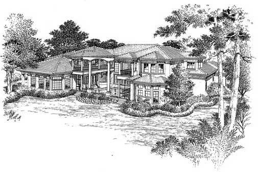 Rear Elevation Plan: 96-146