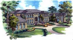 Mediterranean Style House Plans 96-146