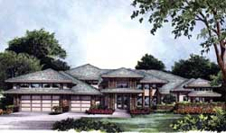Contemporary Style Home Design Plan: 96-164