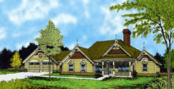 Victorian Style House Plans Plan: 96-182