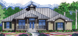 Coastal Style Floor Plans Plan: 96-190