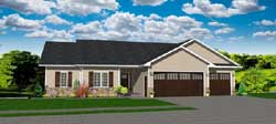 Ranch Style Home Design 97-109
