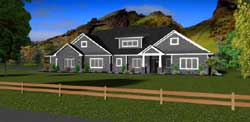 Craftsman Style Home Design Plan: 97-112