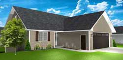 Traditional Style Home Design Plan: 97-113