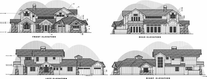 Rear Elevation Plan: 98-101