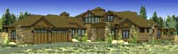 Mountain-or-Rustic Style Floor Plans Plan: 98-109