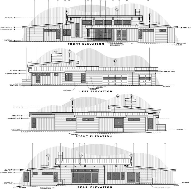 Rear Elevation Plan: 98-122