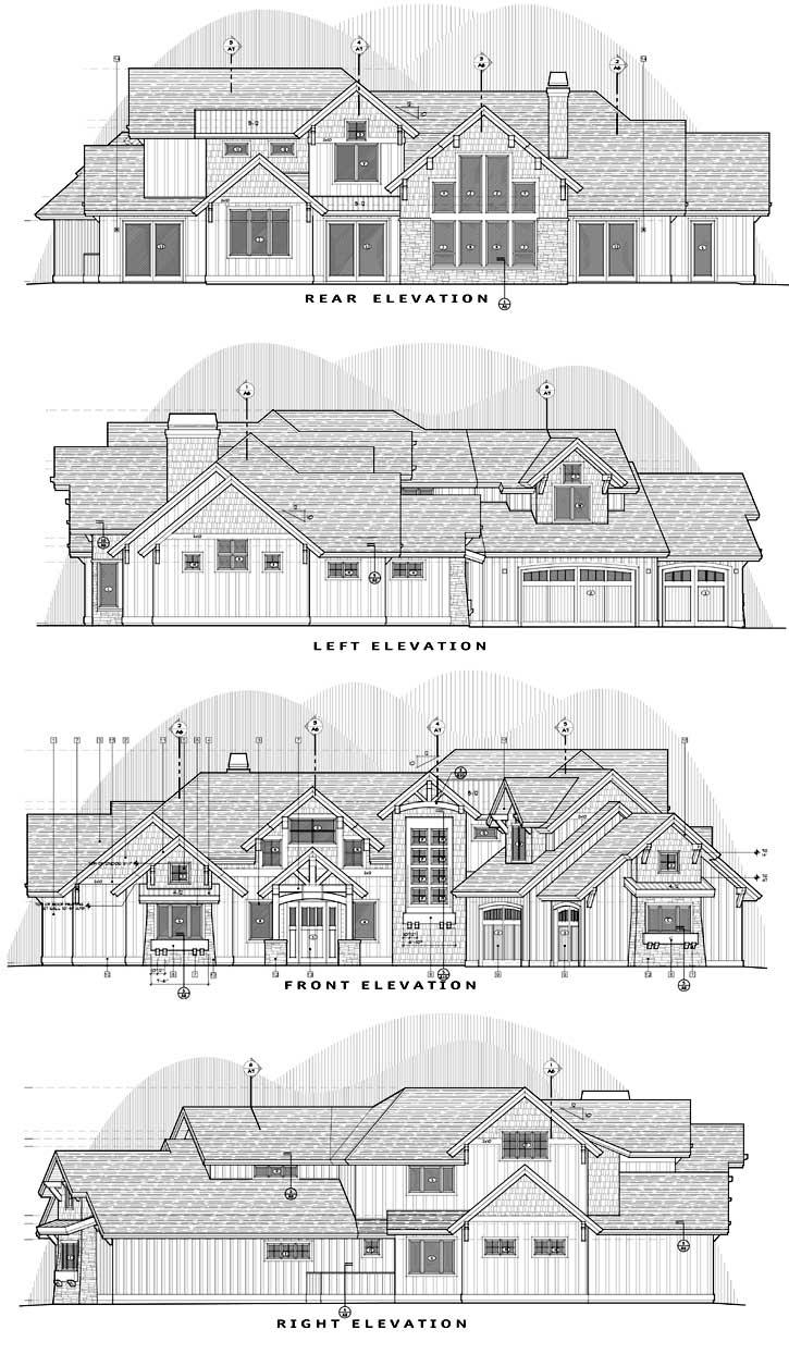 Rear Elevation Plan: 98-125