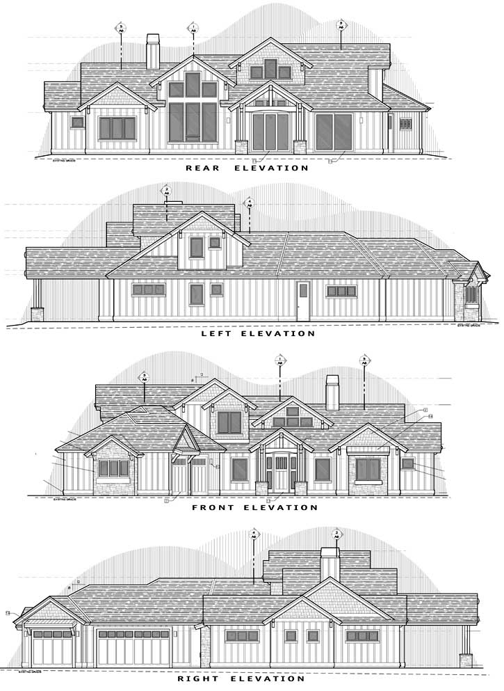 Rear Elevation Plan: 98-126