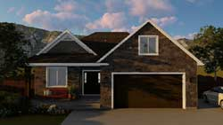 Traditional Style Home Design Plan: 99-104