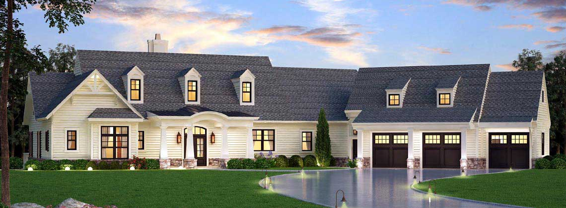 Country Style Home Design 24-242