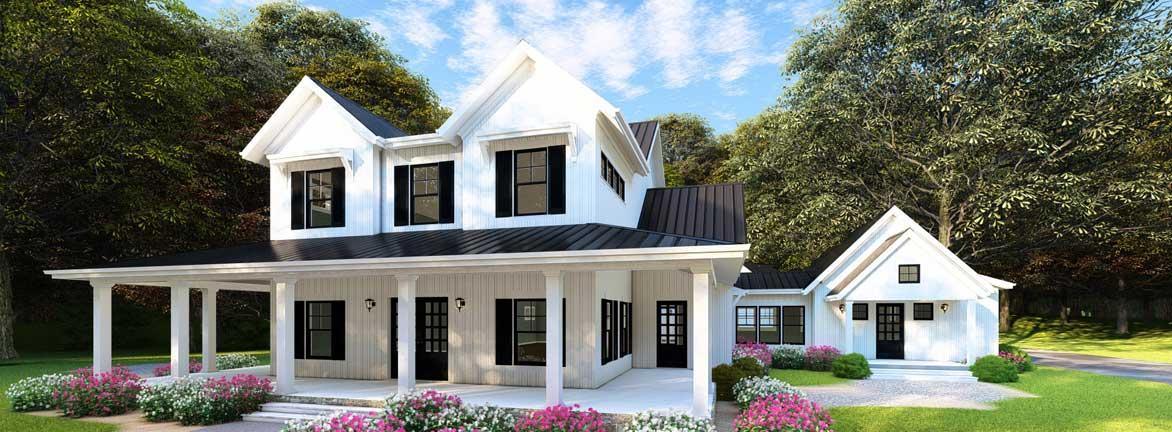 Modern-Farmhouse Style Home Design 12-1477