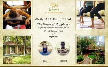 Attain the Bliss of Happiness at Ananda Lahari Retreat 2018, Kairali
