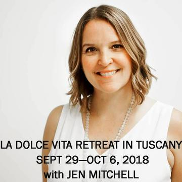 LA DOLCE VITA TUSCANY YOGA RETREAT WITH JEN MITCHELL | SEPT 29 – OCT 6, 2018