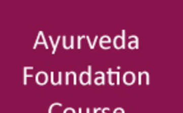Ayurveda Foundation Course