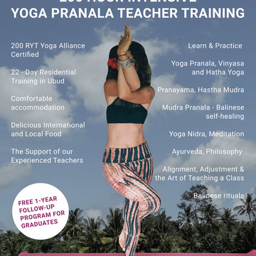 200 Hour Yoga Pranala Intensive Teacher Training in Bali 2018