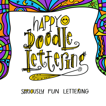 Happy Doodle Lettering I (Beginner) Saturday Nov 17th, 2:30-4pm
