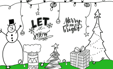 Holiday Lettering + Doodles (Beginner/Intermediate) Saturday Nov 17, 4:15-5:45pm