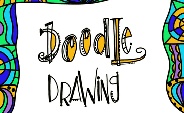 Happy Doodle Drawing: Flowers, Frames, + Flourishing (Beginner) July 28, 4:15-5:45pm
