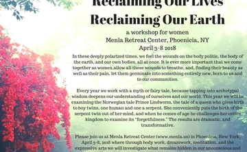 Reclaiming our Lives, Reclaiming Our Earth; a workshop for women
