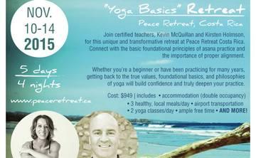 Yoga Basics- Five Day Retreat- November 10-14