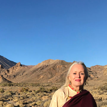 Lama Tsultrim presenting at Inner Peace Conference