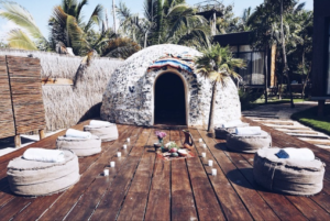 Sweat Lodge, yoga retreat