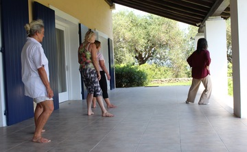 TAI - CHI in the amazing setting of Ralli Retreat, south Corfu, Greece