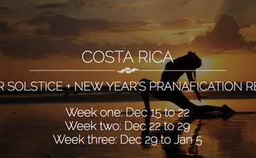 COSTA RICA:  Certificate: Living Flow – Vinyasa & Ayurveda for Vital Living 200/300 Hour