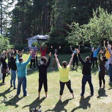 Yoga and Movement Research Body, Feedback, Flow with Diane Bruni, May 2018, Cortes Island, Canada
