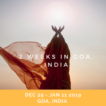 2 Weeks New Years Yoga Retreat in Goa, India Part I & II