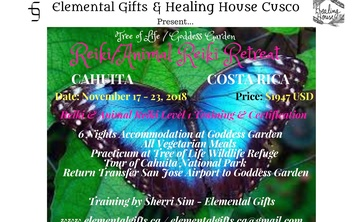 Tree of Life Goddess Garden Animal Reiki/Reiki Training Retreat