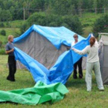 Raising the Tents - Volunteer Weekend