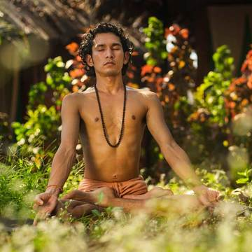Popular yoga retreat in India