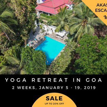 2 Weeks Yoga Retreat in Goa, India – Part I+II – 25% OFF
