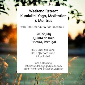 Weekend Retreat: Kundalini Yoga, Meditation & Mantras