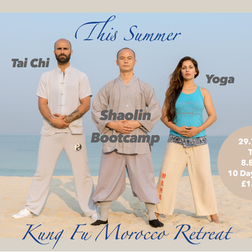 "Train With 32nd Generation Shaolin Monk In ""Kung Fu Retreat Morocco"" Buddha Package"